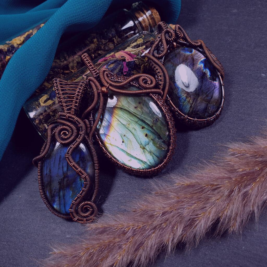 Biżuteria z labradorytem Aurora Borealis - Smocze Sny