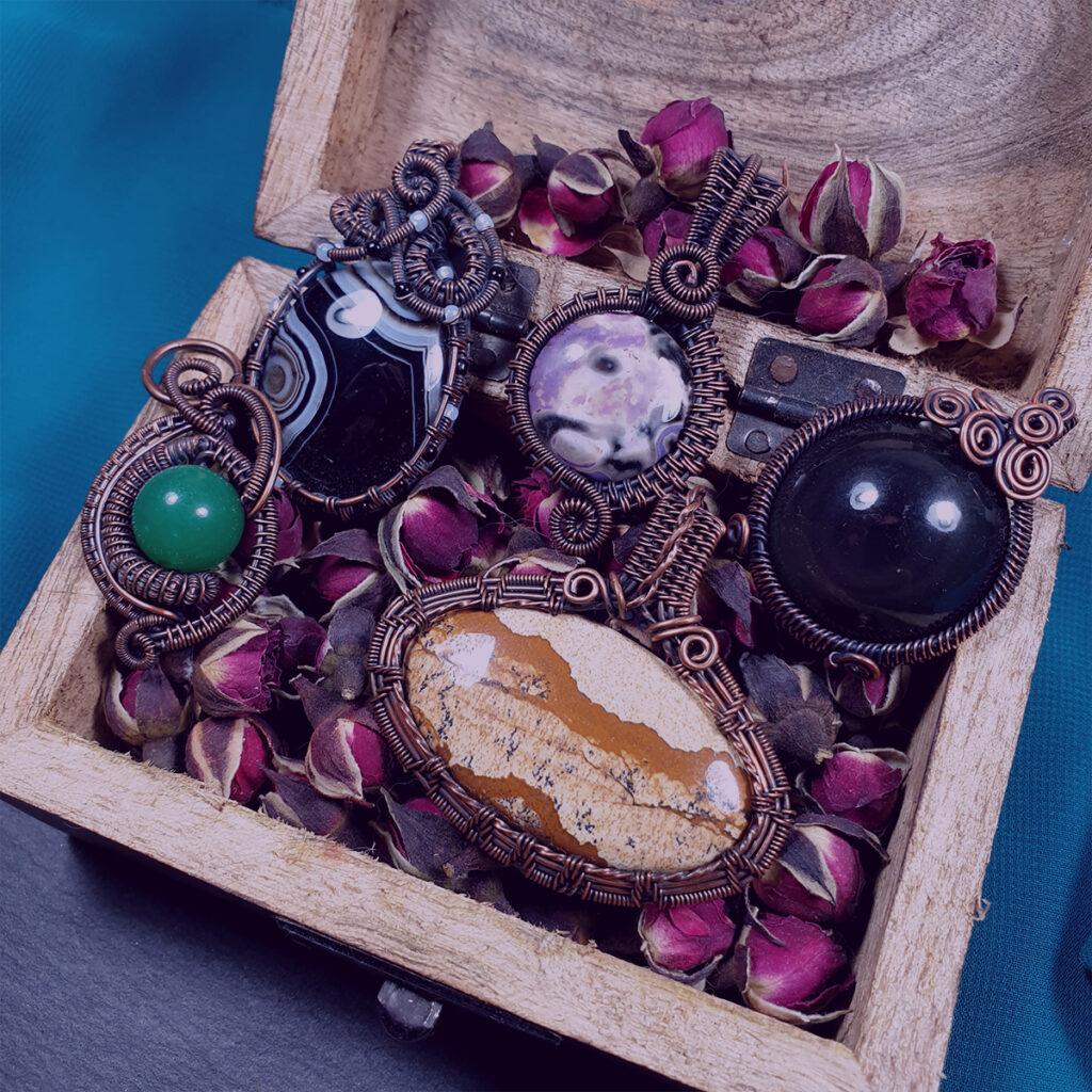 Miedziana biżuteria Whispy Vines - Smocze Sny